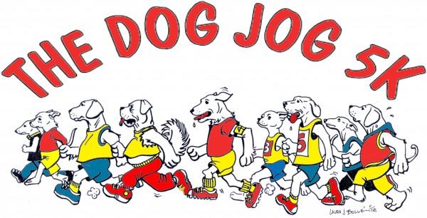 Dog Jog Logo Red