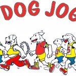 Dog Jog Logo with running dogs