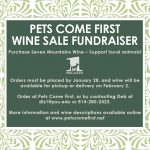 Wine Sale Fundraiser!